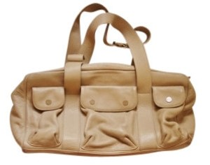 Sigrid Olsen Leather Satchel in Grey/Beige