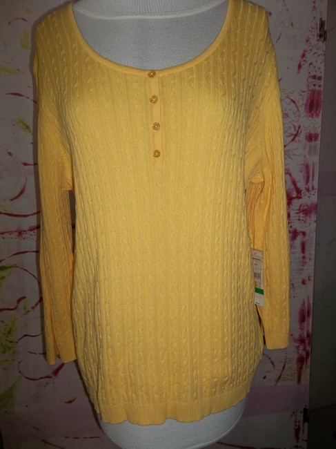 Studio Works Cableknit 3/4 Sleeve Brand New Sweater