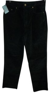 Relativity Corduroy Petite Five Pocket Cotton/spandex Straight Pants Black