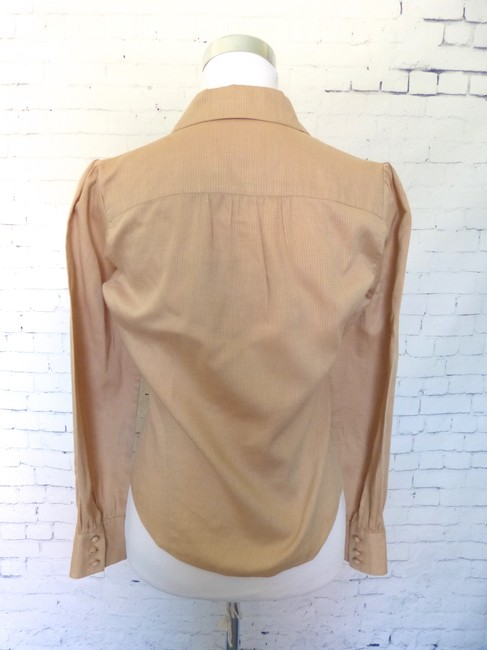 Banana Republic Tailored Button Down Shirt Tan