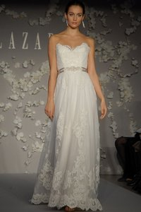Lazaro White Lace 3004 Feminine Wedding Dress Size 2 (XS)