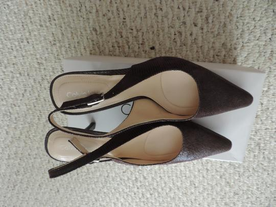 Calvin Klein ESPRESSO/DARK BROWN Pumps