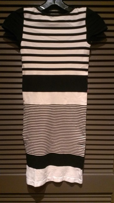 Bebe short dress Sandshell/black on Tradesy