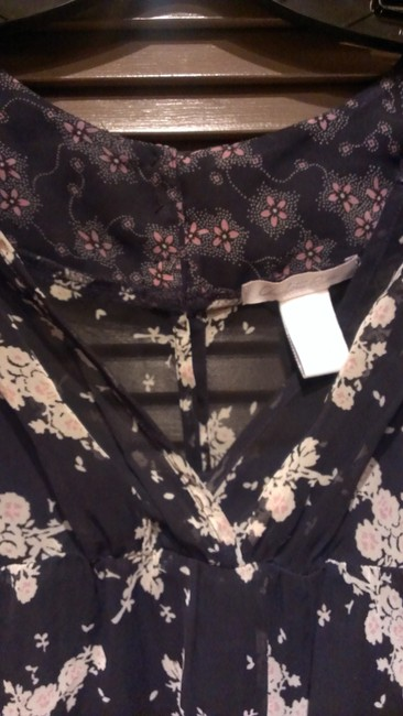 Charlotte Russe short dress Black/white and pink flowers on Tradesy