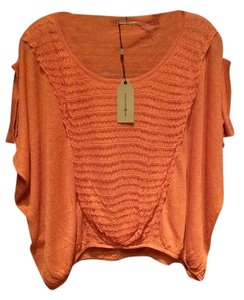 Max Studio Top Dark Orange