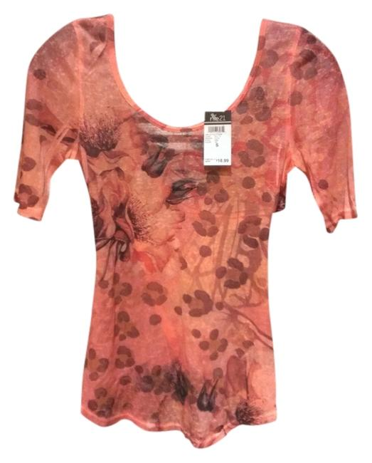 Rue 21 T Shirt Pink coral