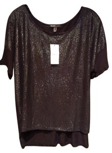 Mango Top Black and sparkling silver