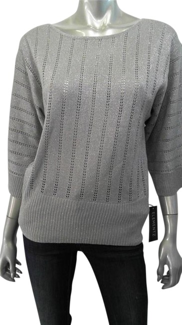 Preload https://item4.tradesy.com/images/elementz-silver-metallic-pearl-sparkle-ret-sweaterpullover-size-10-m-776453-0-0.jpg?width=400&height=650