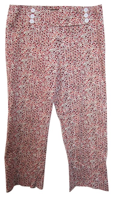 Etcetera Capri/Cropped Pants Red & Yellow