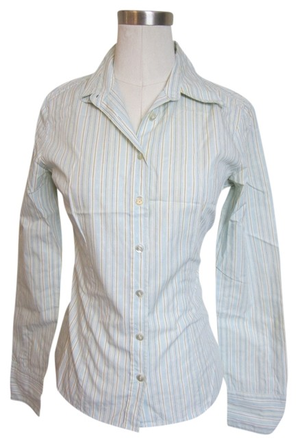 United Colors of Benetton Button Down Shirt Green/Blue/White