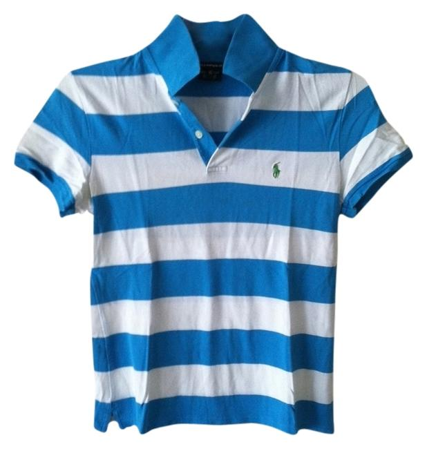 Preload https://img-static.tradesy.com/item/776761/polo-ralph-lauren-blue-and-white-button-down-top-size-2-xs-0-0-650-650.jpg