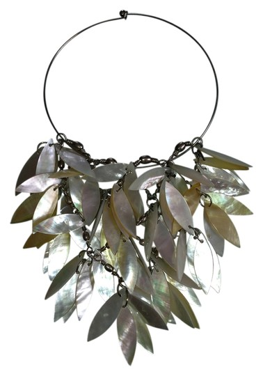 Preload https://item3.tradesy.com/images/mother-of-pearl-and-silver-cascading-statement-necklace-776892-0-0.jpg?width=440&height=440