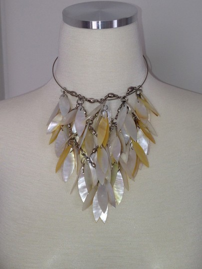 Other Mother of Pearl Cascading Statement Necklace