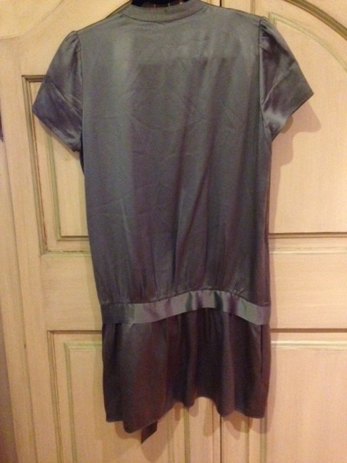 BCBGMAXAZRIA short dress Steel Blue Silk on Tradesy
