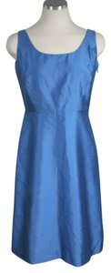 Ann Taylor Blue Silk Crinolin Retro Dress