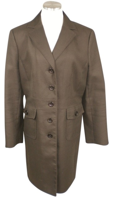 Preload https://item1.tradesy.com/images/ann-taylor-brown-chocolate-mod-trench-coat-size-12-l-777055-0-0.jpg?width=400&height=650