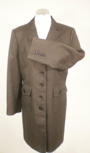 Ann Taylor Lined Winter Mod Retro Trench Coat