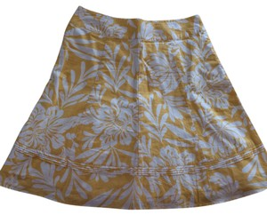 Ann Taylor Skirt Yellow and White