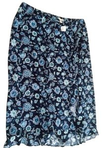 CJ Banks Skirt Blue Floral print