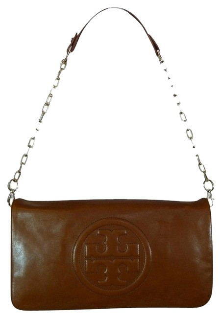 Item - Shoulder Bag Bombe Luggage Reva Clutch/Shoulder Brown Leather Clutch