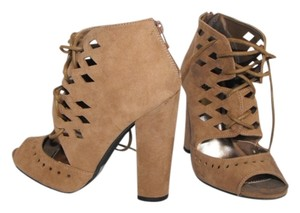 Charlotte Russe New With Box Taupe Suede Pumps