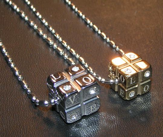 2pc Matching Stainless Steel Love Dice Set Free Shipping