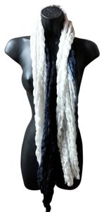 Karma Gorgeous X Long Ombre Black White Silk Scarf Or Wrap