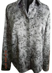 East 5th Essentials Top Grey/Black floral
