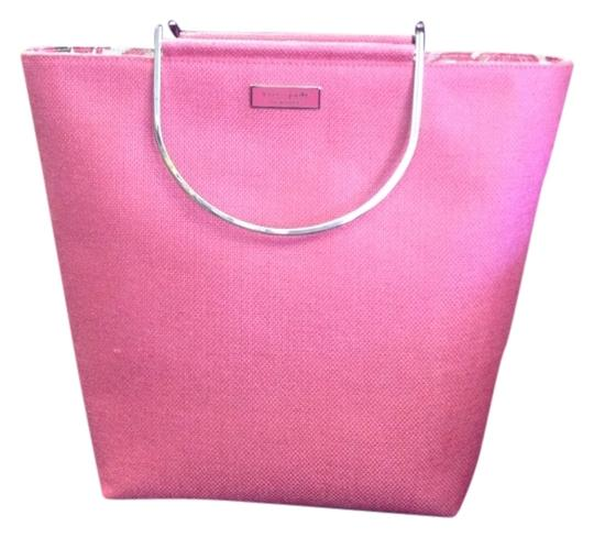 Preload https://item2.tradesy.com/images/kate-spade-pink-linen-tote-777691-0-0.jpg?width=440&height=440