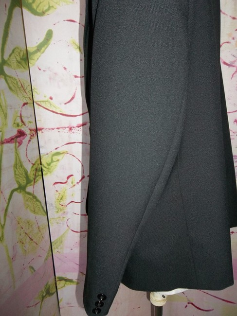 Other Lined Long Sleeves Faux Pockets Black Blazer