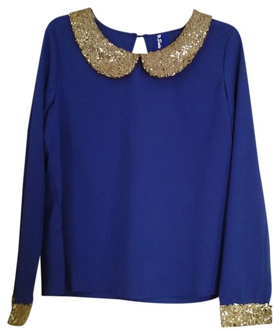 Fashionette Style Boutique Top Colbert Blue