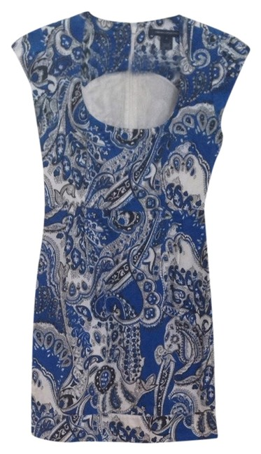 French Connection short dress Blue, Black, White on Tradesy