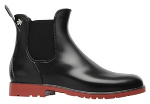 Meduse Boot Bootie Rubber Rain Black/Red Boots