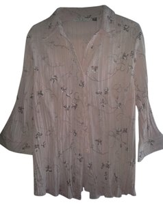 Fred David Button Down Shirt Light Pink & Flowers