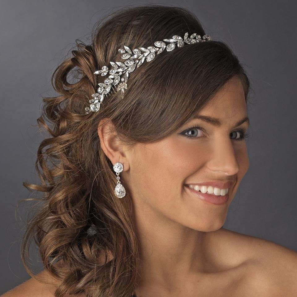 ... Ornate Antique Silver Crystal Wedding Headband | Tradesy Weddings