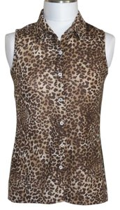 French Laundry Top Leopard/Brown