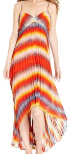 Orange Maxi Dress by Calvin Klein Maxi Rainbow