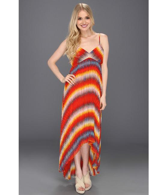 Orange Maxi Dress by Calvin Klein Maxi Rainbow Ribbed