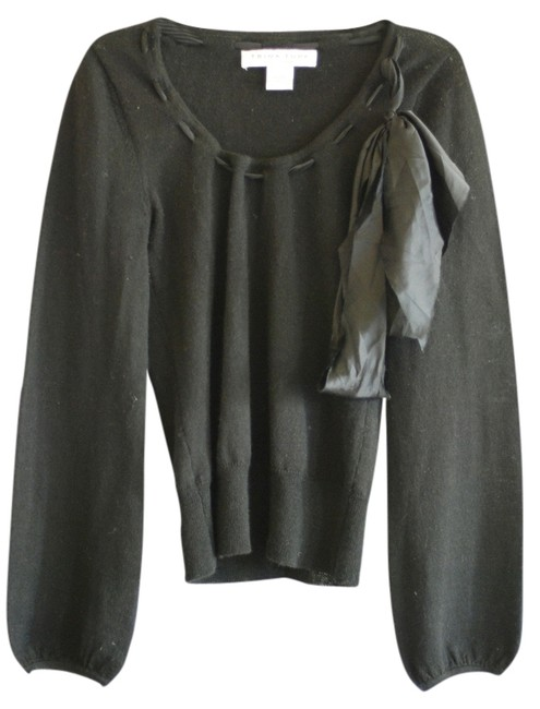 Preload https://item4.tradesy.com/images/trina-turk-black-s-scoop-neck-bow-sweaterpullover-size-4-s-778373-0-0.jpg?width=400&height=650