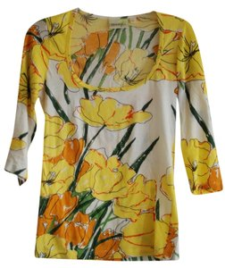 Anthropologie Top S : Scoop Tee Yellow Poppy - Floral