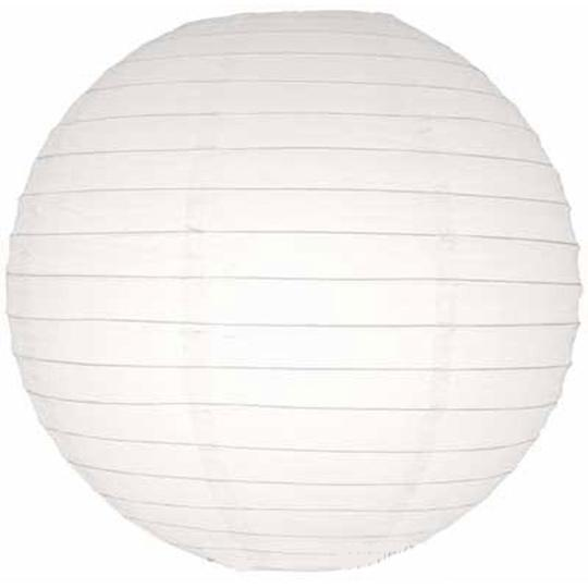 "White 30 Pcs Of 8"" Chinese Round Paper Lanterns For Floral Centerpiece Party Decoration Supplies"