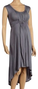 Japanese Weekend Nursing & Maternity Hi Low Ruched Maternity Dress