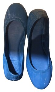 Tory Burch Patent Leather turquoise Flats