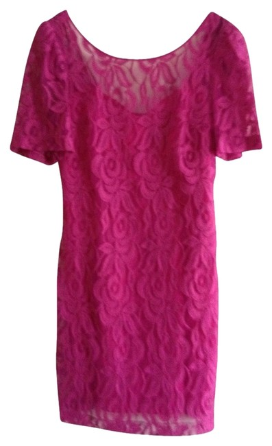 Tracy Reese short dress Lace Pink Scoop Back on Tradesy