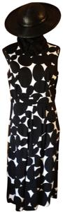 Talbots short dress Black and White Sleeveless on Tradesy