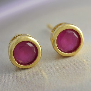 Ruby Stud Earrings Free Shipping