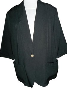 Requirements Large 3/4 Sleeves Pockets Unlined Black Blazer