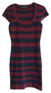 BCBGMAXAZRIA short dress Bodycon Scoop Neck Stretchy Striped on Tradesy