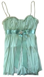 Moda International Sexy Babydoll Bow Top Green