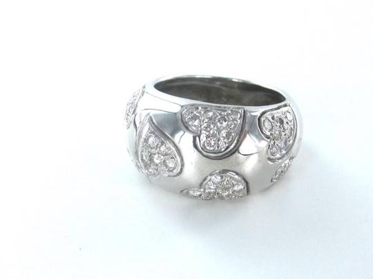 Other STUNNING 18KT WHITE GOLD HEART DESIGN 48 DIAMOND CLUSTER RING APPROX 1 CT